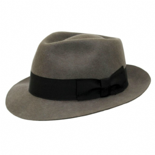 Grey Snap Brim Trilby Hat - Pennsylvania